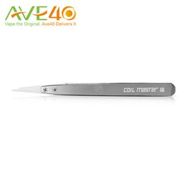 Wholesale Tweezers Packaging - Original Coil Master Ceramic Tweezers DIY Rebuilding Upgraded Version New Package SS with Replaceable Tips Wire Coiling Tool for RBA RDA