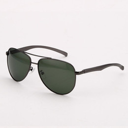 Wholesale Occhiali Da Sole - Polarized Pilot Sunglasses For Men Alloy Frame Polarised Green Lens Mens Sun Glasses Eyewear Occhiali da Sole