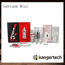 Wholesale Kanger Mini Pyrex - Kanger Subtank Mini Atomizer 4.5ml Sub Ohm RBA Clearomizer Kangertech Subtank Mini Pyrex Glass Cartomizer with OCC 100% Original