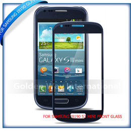 Wholesale Galaxy S3 Color Screen - Wholesale-2pcs Free shipping HQ Copy White   black  blue color for Samsung Galaxy S3 mini GT I8190 Outer Front Glass Lens screen