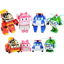 Wholesale Robocar Poli Toys - Robocar poli deformation car toys 4 styles police car fire truck ambulance helicopter mixed for kids toys