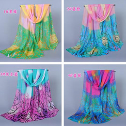 Wholesale Scarves For Painting - Fashion Chinoiserie Women Scarf Gradient Oil Painting Pattern Scarves For Outdoor Beach New Fashion Accessories For Lady