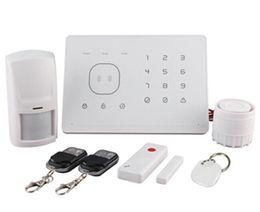 Wholesale Gsm Rfid Alarm - GSM Alarm System with RFID And remote voice message App remote control Burglar alarm system