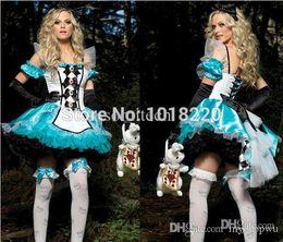 Wholesale Sexy Snow White Games - Wholesale-2015 fashion blue uniform fantasy dress alice costume snow white cosplay sexy Halloween fantasias Costume adult onesie for women