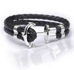 Wholesale 18k Gold Cord - New Multilayer men prepare leather bracelets Fashion Leather Bracelets for men's Leather cord bracelet wholesale