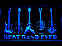 Wholesale Led Guitar Lights - 324 Best Band Ever Guitar Weapon Bar Beer LED Neon Light Sign Wholeseller Dropship Free Shipping 7 colors to choose