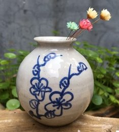 Wholesale Hand Made Ceramic Vase - Hand-painted blue flower ceramic vase jingdezhen hand-made porcelain antique little flower vase with little flower vase home furnishing