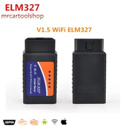 Wholesale Top Selling Obdii Scanners - 2015 Top Selling V1.5 ELM327 WIFI OBD2   OBDII Auto Diagnostic Scanner Tool ELM 327 WiFi Diagnostic Tool free shipping