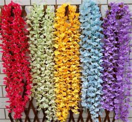 2019 fiori di seta wisteria all'ingrosso 2015 nuovo stile 1.8 metro 6 colori fiori di seta artificiale glicine ortensia fiori da sposa per centrotavola di nozze decorazioni all'ingrosso fiori di seta wisteria all'ingrosso economici