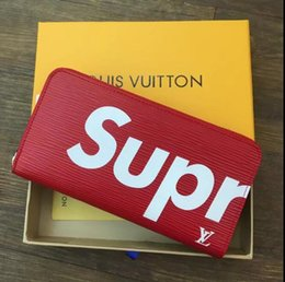 Wholesale Photo Box Cards - high quality Wallet Holders Classic Brand long Wallet Gifts For Men Women Designer Clutch Bags With Box