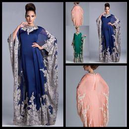 Arabisch Kaftan Königsblau Abend Prom Kleider 2018 Abaya Dubai Chiffon Mutter der Braut von Fabrikanten