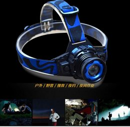 Wholesale High Lumen Led Lamp - Drop shipping SecurityIng Zoomable 2000 Lumen CREE XML Q5 LED Rechargeable Li-Po Headlamp Headlight Zoom LED Head Light Lamp for Cycling+