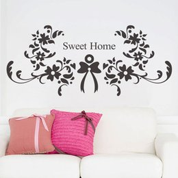Wholesale Sweet Dreams Wall Art - Cartoon Sweet Dream Quote Letters Wall Stickers flower Decorative Wall Decal for Rooms Home Decoration Nursery Wall Art Poster