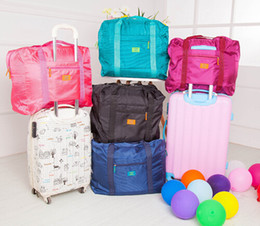 Wholesale Home Clothes For Women - Waterproof nylon folding travel handbags male lady on a business trip travel luggage to pack clothes Buggy Bag For Travel Home