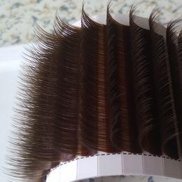 Коричневые ресницы онлайн-Шоколадно-коричневый объем ресниц расширение коричневый Камелия ресницы 3D-9D накладные ресницы поддельные ресницы весь размер 0.07 мм CD Curl 50% от заводской цены