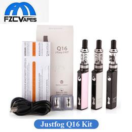 Wholesale Kit originale Vape Kit Justmaog Q16 mAh Nero Argento Kit Sigaretta elettronica Vape Cigarette con ml Atomizzatore ohm Bobina OCC