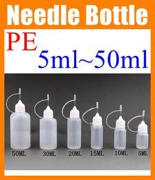 Wholesale High Quality E Liquids - High quality 5ml 10ml 15ml 20ml 30ml 50ml Plastic Bottle oil Bottle E-liquid Empty dropper bottle vs glass bottle e cig e-cigarette FJ002