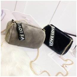 Wholesale Cover Clips - Women's bag 2017 Korean new fashion plush cylinder small bag wild chain clip shoulder Messenger bag