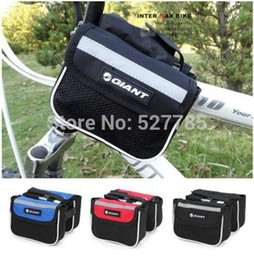 Wholesale Giant Bicycle Saddle Bags - Giant Bicycle Road Mountain Bike Cycling Sport Frame Front Tube Double Sides Saddle Bag Package Mobile Phone Key Case Pack Pouch A5