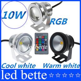 10W 12V RGB Blanco frío Blanco cálido Lámpara de luz subacuática LED IP68 Linterna de buceo para piscina Piscina Acuario Fuente desde fabricantes