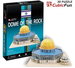 Wholesale Model Paper Toy - Wholesale-Paper model,Children's DIY toy,Paper craft,Birthday gift,3D educational Puzzle Model,Card model,Jerusalem Dome Mosque
