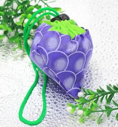 wasserdichte unterwäsche Rabatt Heiße 8colors MIC neue nette nützliche purpurrote Traube faltbare Eco wiederverwendbare Einkaufstasche-Taschen, Gepäck-Zusätze