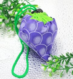 2019 bolsa de eco linda plegable Caliente 8colors MIC Nueva Lindo Uva Púrpura Plegable Eco Reutilizable Bolsas de Compras Bolsas, Equipajes Accesorios bolsa de eco linda plegable baratos