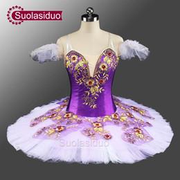 Wholesale Purple Dance Competition Costume - NEW Purple Classic Costume Tutu Ballet SD0046 Dance Tutu Professional Stage Costumes Platter Competition Ballet Tutu