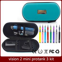 Wholesale Ego Case Needle Bottle - Vision Spinner 2 Mini Protank 3 Kit Vision Spinner 2 Battery 1600mah Mini Protank 3 Atomizer with Vision Case eGo charger Needle Bottle