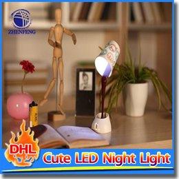 Wholesale Diy Coffee Lamp - Energy Saving USB DIY 8 LED Coffee Cup Mug Lamp Light Energy Saving Home Desk Table Lamp