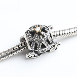 Wholesale Car Charms For Bracelet - Fashion Charms Loose Beads 925 Ale Sterling Silver Set Auger Pumpkin Car Diy Christmas Party Jewelry Accessories For Thread Bracelet