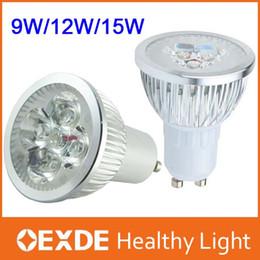 Wholesale High Power Led Spotlight Mini - High power CREE 9W 12W 15W mini rohs spotlights Dimmable GU10 MR16 E27 E14 B22 led Light Lamps ceiling bulb pendant
