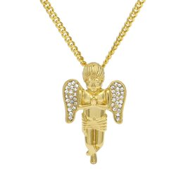 2019 желтое золото 18 k ожерелье Прохладный Хип-Хоп Ожерелье 18 К Желтое Золото Покрытием Прозрачный Горный Хрусталь Ожерелье для Мужчин Женщин Хороший Подарок NL-414 дешево желтое золото 18 k ожерелье
