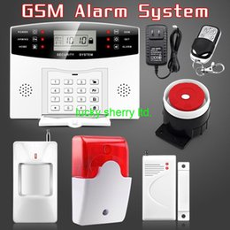 Wholesale Keyboard Gsm Alarm - Wireless GSM Alarm system Home security Alarm systems SMS Auto Dialing LCD Keyboard Remote Control Security Alarm