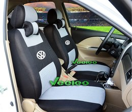 Wholesale Volkswagen Golf Red - Universal Seat Cover For Volkswagen Polo Jetta Bora Santana Vista Lavida Golf With Breathable Material+Logo+wholesale+Free Shipping