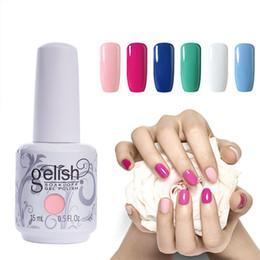 Farbiger gelnagellack online-Wählen Sie 3 Farben Gel Polish Nail Art Tränken Sie Gelish UV LED Gel Nagellack Foundation Top Coat 220 Farben