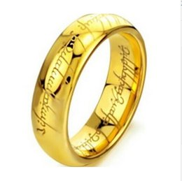 Wholesale ring laser engraving - Wholesale- Classic Man & Women Rings Gold & Silver Of The Ring Vintage Jewelry Laser Engraved Stainless Steel Rings