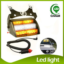 Wholesale 12v Flashing Strobe Light - New LED Emergency Lights 18 LED Strobe Lights Suction Cups Light Fireman LED Flashing Light Emergency Security Car Truck Light Signal Lamp