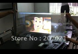 Wholesale Holographic Film For Projection - Wholesale-Freeshipping!!! Transparent holographic film screen for window shop dispay, width 1.524M rear projection screen film