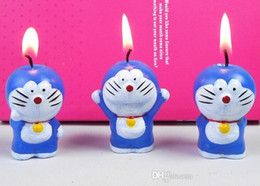 Wholesale Wedding Favors Kids - Lovely DIY Candles Favors Birthday candles doraemon Wedding little Cat candle smoke free Birthday Valentine Wedding Jingle cats Kids Gifts