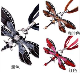 Wholesale Butterfly Acrylic Alloy Rhinestone Necklace - 12 Pieces  butterfly pendant fit opal necklaces made Long sweater chain