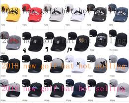 Wholesale Wholesale Snapback Hat Sets - 2018 hot sale new Golf Hat golf prey bone sun set basketball baseball caps hip hop hats snapback for men and women 7colors free dhl