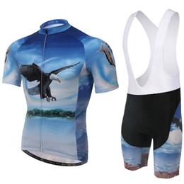 camiseta ciclista orbea rojo Rebajas Al por mayor-2015 Flying Eagle manga corta Bicicletas Ciclismo Wear Jersey + Bib Shorts Sets Traje S-4XL