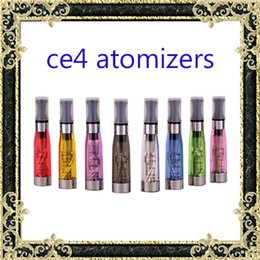 Wholesale Colorful Clearomizer - Ecig tanks Electronic Cigarette ego ce4 Atomizer vaporizer tanks 1.6ml eGo T CE4 Cartomizer Black Colorful Tips E-cigarette Clearomizer