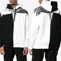 Wholesale Rodeo Gold - Marcelo Burlon Hoodies Feather Wings Sweatshirts Milan Club MB Long Sleeve T-shirt RODEO MAGAZINE Tee Shirts Marcelo Burlon T Shirts M-XXL