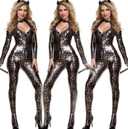 Wholesale Sexy Cat Woman Halloween - 2015 sale Sexy Cat Girl clothes Halloween Theme Costume easter style Costumes & Cosplay top quality Carnival women Apparel