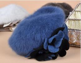 Wholesale angora women - Wholesale-9 Color Berets Free Shipping luxury Angora Beret Hat Winter fashion fine woman beret Angora hats #102625