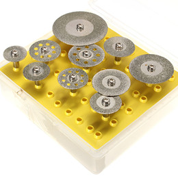 Wholesale rotary tool dremel - 10pcs Diamond Cutting Discs Cut Off Wheel Set For Dremel Rotary Tool