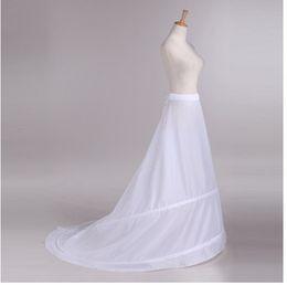 Wholesale Tailing Petticoats - Novia Enaguas Underskirt Wedding Skirt Slip Wedding Accessories Chemise 2 Hoops For A Line Tail Dress Petticoat Crinoline