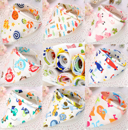 Wholesale Wholesale Baby Aprons - Baby Cotton kerchief infant Saliva Bibs kids Triangle Bib Bandana burp cloths Pinafore Apron Baby Feeding 118